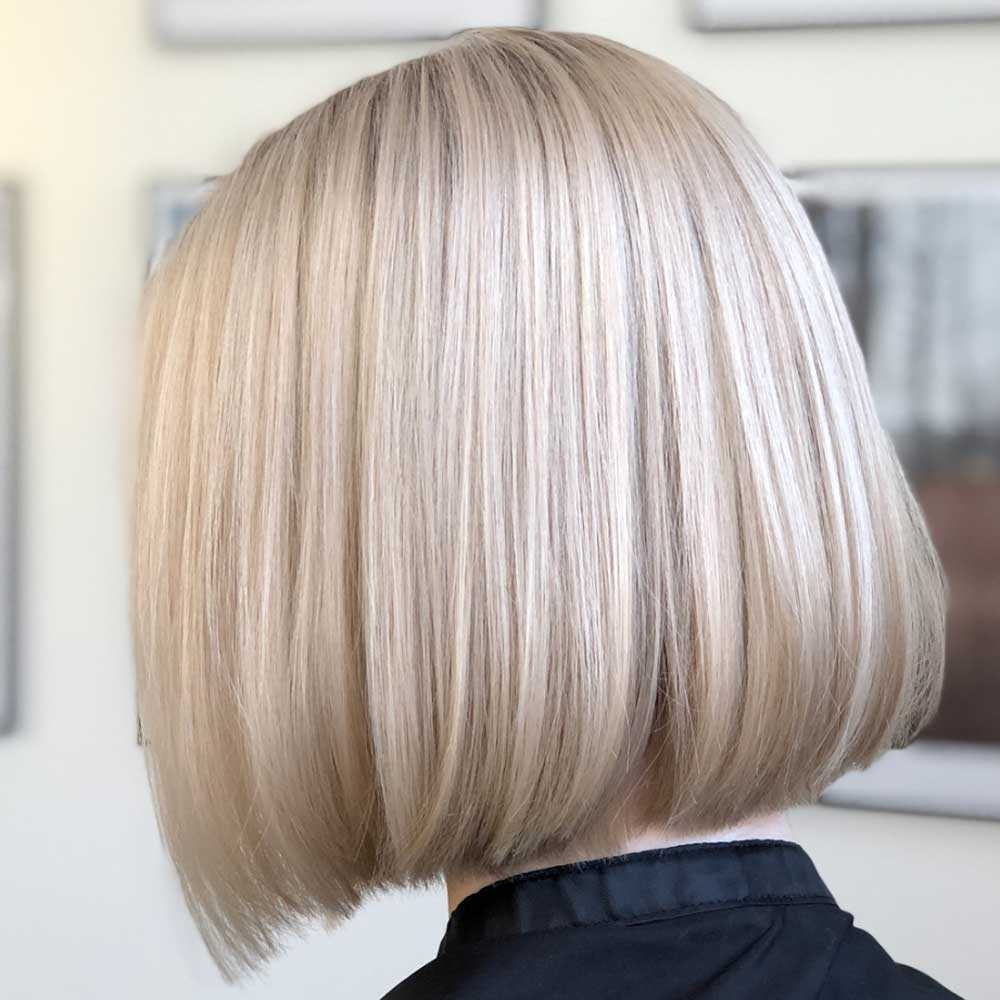Corte de cabello bob desvanecido
